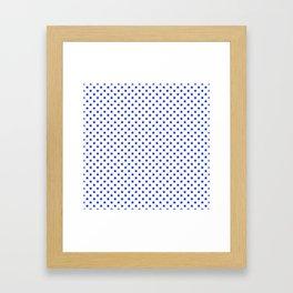 Cobalt Blue Star Pattern on White Framed Art Print
