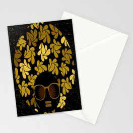 Afro Diva : Gold Stationery Cards