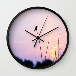 Humming Bird Silhouette  Wall Clock