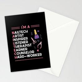 I AM A Nailtech Fingernail Manicure Stationery Cards