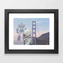 A Very Large Robot Framed Art Print
