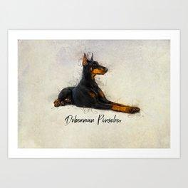 Doberman Pinscher Art Print