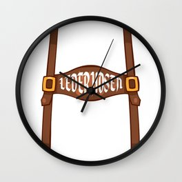 My Lederhosen Is In The Wash Oktoberfest Funny T Shirt Wall Clock
