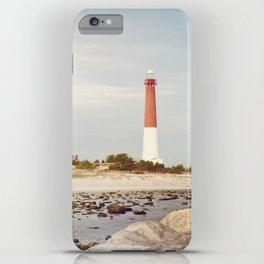 Barnegat Lighthouse Long Beach Island New Jersey Shore, Old Barney Light house LBI iPhone Case