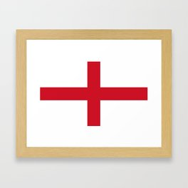 Flag of England (St. George's Cross) - Authentic version to scale and color Framed Art Print