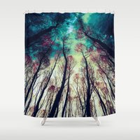 nordic Shower Curtains featuring NORDIC LIGHTS by RIZA PEKER
