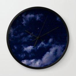 BLUE NIGHT SKY Wall Clock