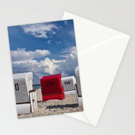 the red beach chair Stationery Cards