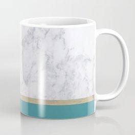 Teal Marble Gold Coffee Mug
