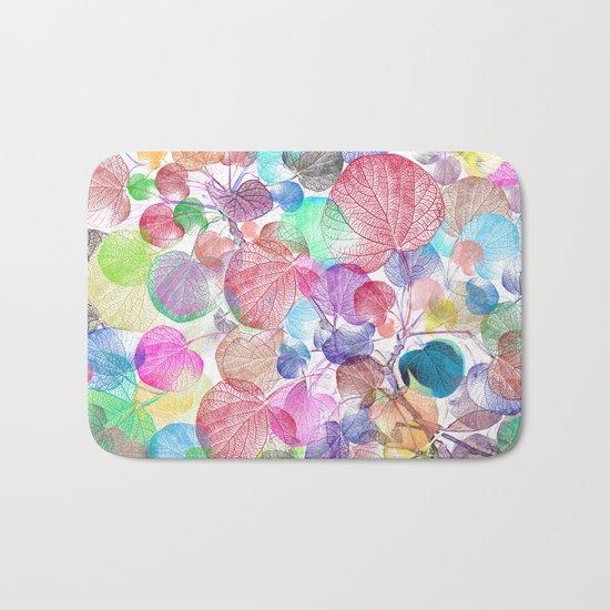 Leaf mosaic(28) Bath Mat