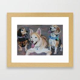 Wendy's Pups Framed Art Print
