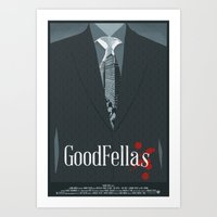 goodfellas Art Prints featuring Goodfellas Movie Poster by ZTH Design