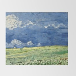 Vincent van Gogh - Wheatfield Under Thunderclouds Throw Blanket
