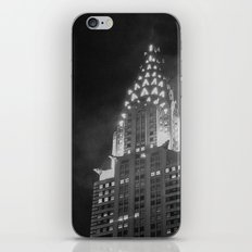 Chrysler building top. Night time. Black and white photography iPhone & iPod Skin
