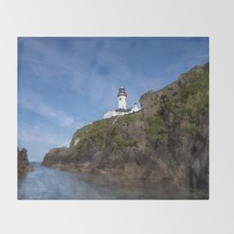 Fanad head Lighthouse Throw Blanket