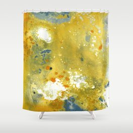 Abstract Acrylic Painting YELLOW Shower Curtain