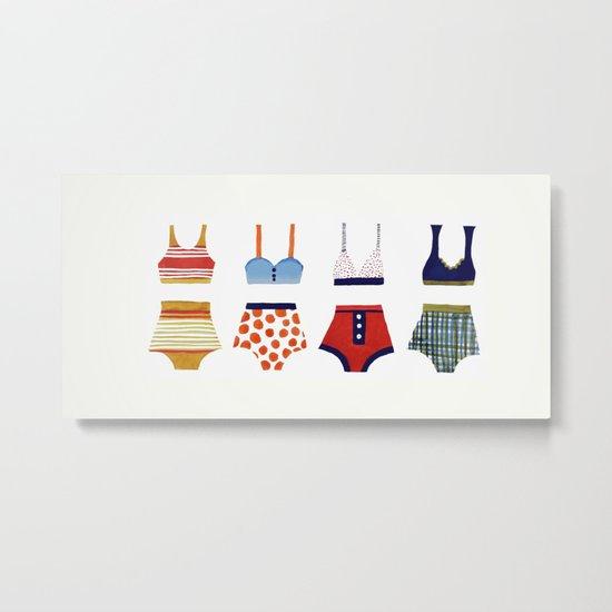 Les bikinis rétro Metal Print