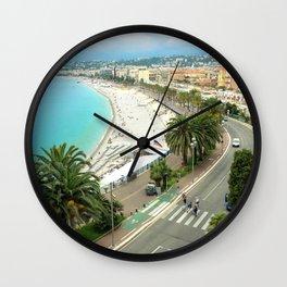 Promenade des Anglais, Nice, France Wall Clock