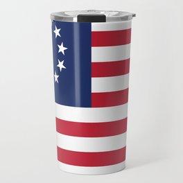 Betsy Ross USA flag Travel Mug
