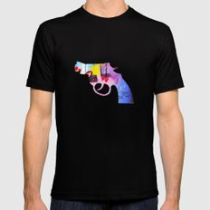 GUN 2 Mens Fitted Tee SMALL Black