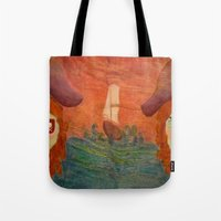 pirates Tote Bags featuring Pirates  by CataBeja Umaña Azul