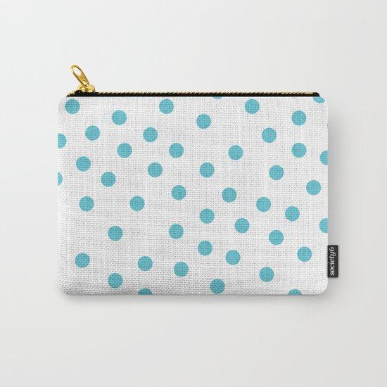Simply Dots in Seaside Blue Carry-All Pouch