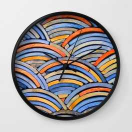 Piles of Tiles Wall Clock