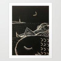 harlequin at sea Art Print