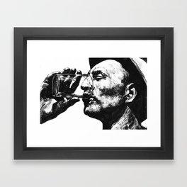 Heat - Man With Drink Framed Art Print
