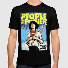 People Have The Power LARGE Black Mens Fitted Tee