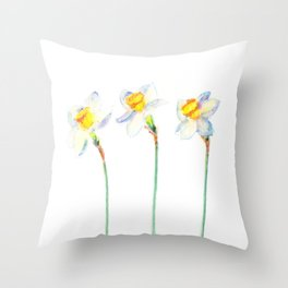 Cheers - Daffodils  Throw Pillow