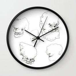 Cartoon Skulls Wall Clock