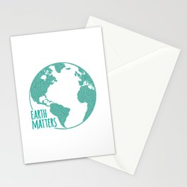 Earth Matters - Earth Day - Watercolor Dots 01 Stationery Cards