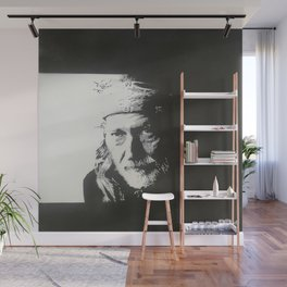 Willie Nelson Wall Mural