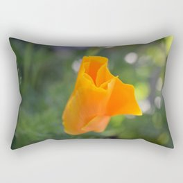 Orange California Poppy, Eschscholzia californica, Flower Rectangular Pillow
