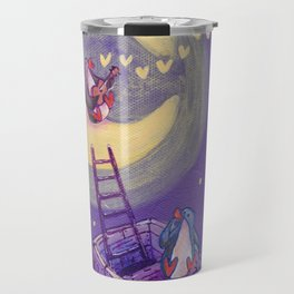 Penguin's Ladder Connects Boat to the Moon and the Singing Penguin Travel Mug