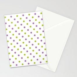 Fun Dots purple green Stationery Cards
