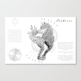 Geometry of a Seahorse Canvas Print