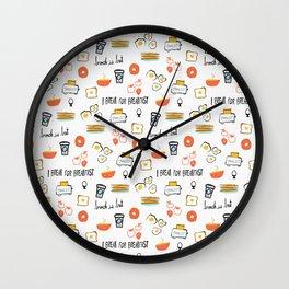 I Break For Breakfast Wall Clock
