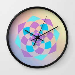 Mandal color wheel Wall Clock