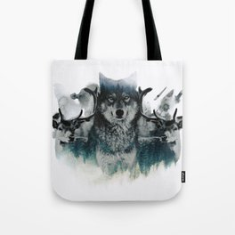 Faded Wildlife Tote Bag
