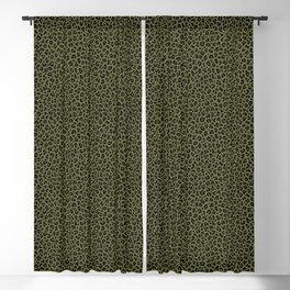 CAMO LEOPARD PRINT – Olive Green | Collection : Punk Rock Animal Prints. Blackout Curtain