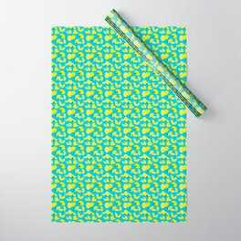 Lemoncello Teal Wrapping Paper