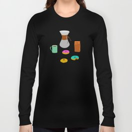 Donuts and Coffee Long Sleeve T-shirt