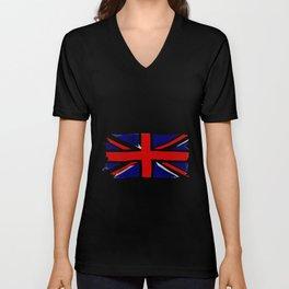 Union Jack Grunge Unisex V-Neck