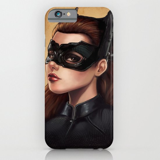 Cute Catwoman Painting  iPhone & iPod Case