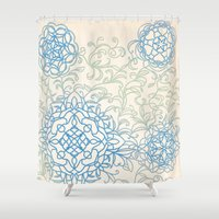 doodle Shower Curtains featuring Doodle by Allie at Shed63