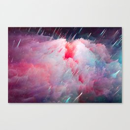 Space Unicorns Are Sounding the Sirens Canvas Print