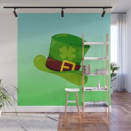 St. Patrick's Day: Leprechaun Hat With Lucky Shamrock Wall Mural