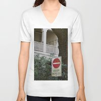 bicycles V-neck T-shirts featuring Except Bicycles by RMK Photography